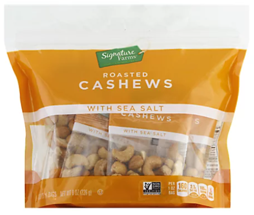 Picture of Signature Farms Cashews With Sea Salt Multipack