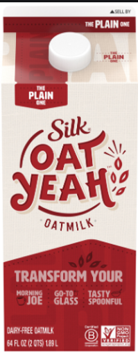 Picture of Silk Oat Yeah Oatmilk The Plain One 2 Quarts