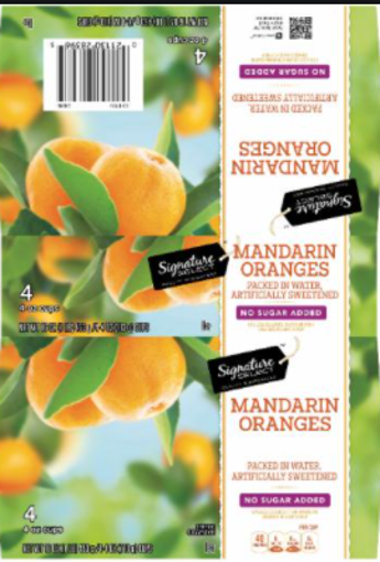 Picture of Signature SELECT Mandarin Oranges No Sugar Added Cups