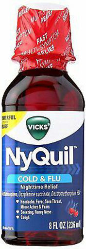 Picture of Vicks NyQuil Cold & Flu Relief Nighttime Liquid Cherry