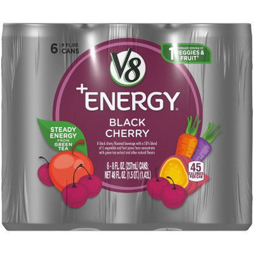 Picture of V8 V-Fusion +Energy Vegetable & Fruit Juice Black Cherry