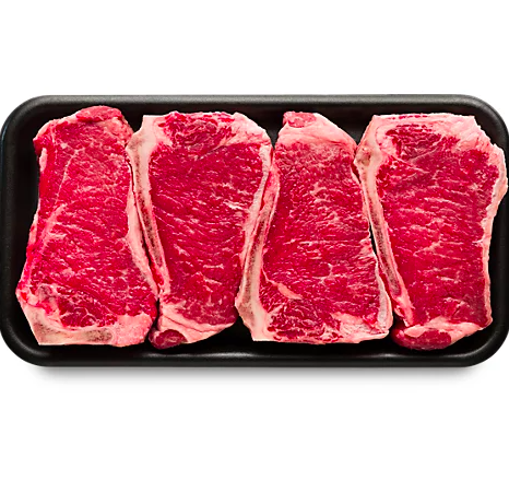 Picture of USDA Choice Beef Top Loin New York Strip Steak Bone In Value Pack