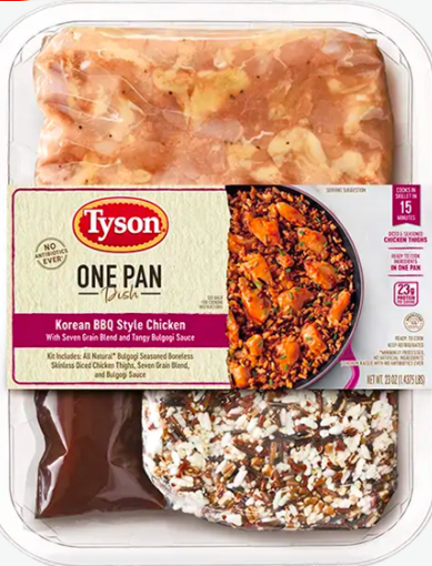 Picture of Tyson One Pan Dish Korean BBQ Style Chicken With Seven Grain Blend And Bulgogi Sauce