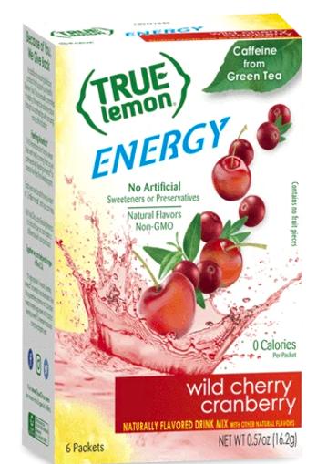 Picture of True Lemon Energy Drink Mix Wild Cherry Cranberry