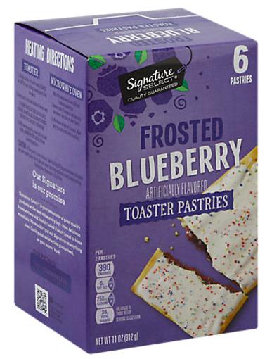 Picture of Signature SELECT Toaster Pastries Frosted Blueberry 6 Count