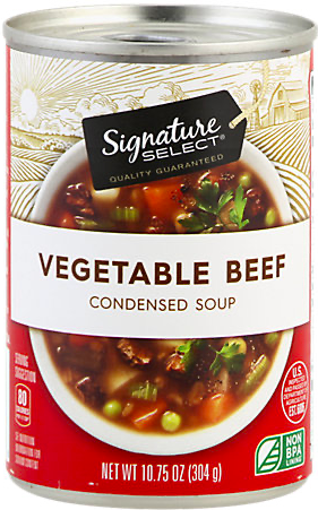 Picture of Signature Select Soup Condensed Vegetable Beef