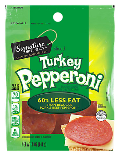 Picture of Signature SELECT Sliced Turkey Pepperoni