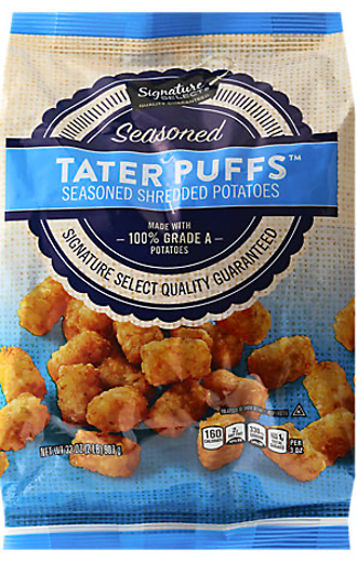 Picture of Signature SELECT Shredded Potatoes Seasoned Tater Puffs