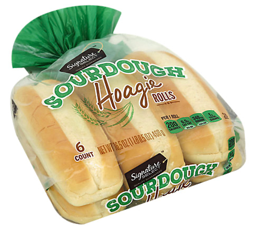 Picture of Signature SELECT Rolls Hoagie Sourdough 6 Count